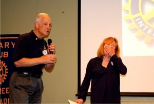 Evergreen Rotary Club President donates $6,000 to Evergreen Chorale